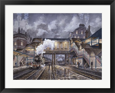 Framed Night Train To Edinbourough Print