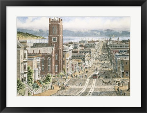 Framed Their Sunday Best,  California & Dupont In San Francisco Print