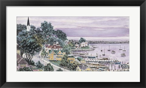Framed Sunset, East Bay Mackinac Print