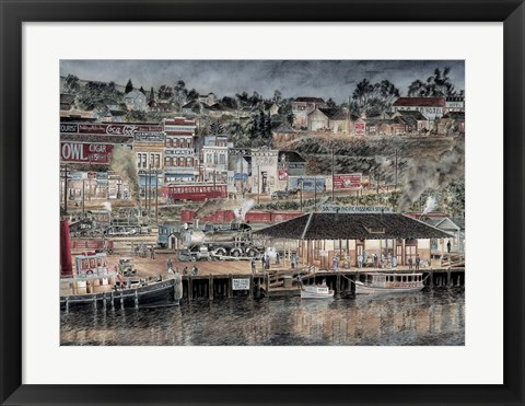 Framed San Pedro By Starlight Print