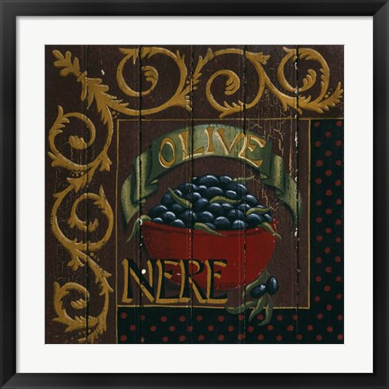 Framed Olives Print