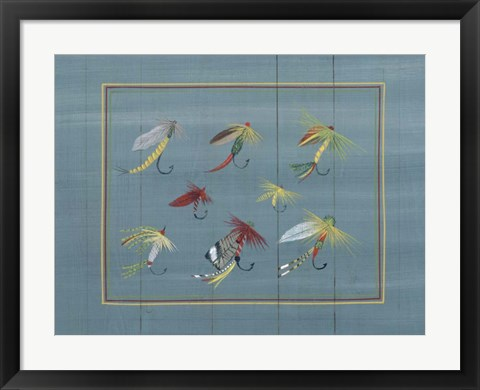 Framed Fishing Hooks 2 Print