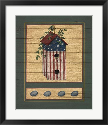 Framed American Bird House Print