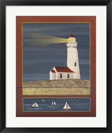 Framed Lighthouse 1 Print