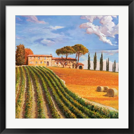 Framed Colline Toscane (Detail) Print