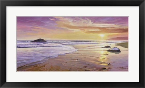 Framed Tramonto sul Mare Print
