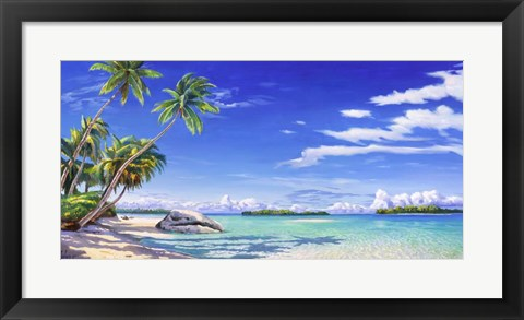 Framed Spiaggia Tropicale Print