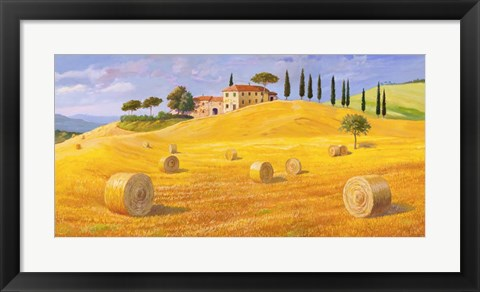 Framed Colline in Toscana Print