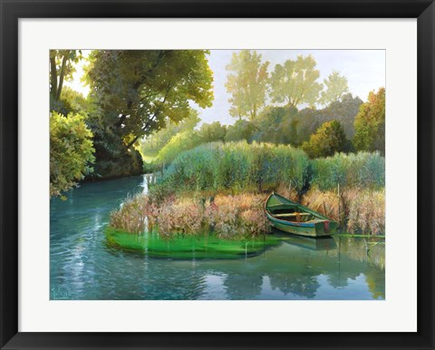 Framed Sul fiume Print