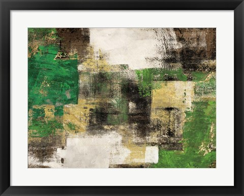 Framed Dream in Green Print