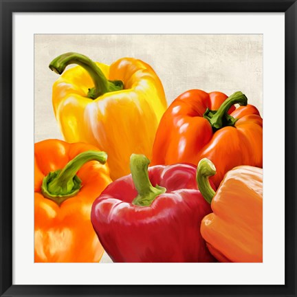 Framed Peppers Print