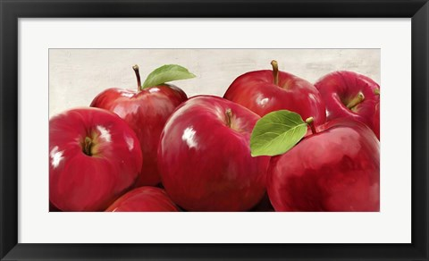 Framed Red Apples Print