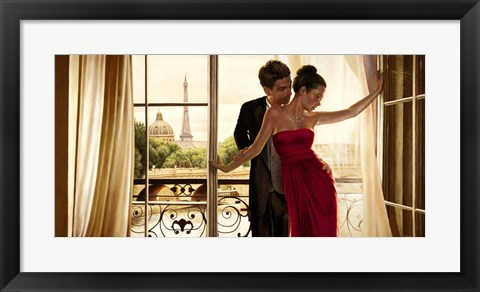 Framed Lovers in Paris Print