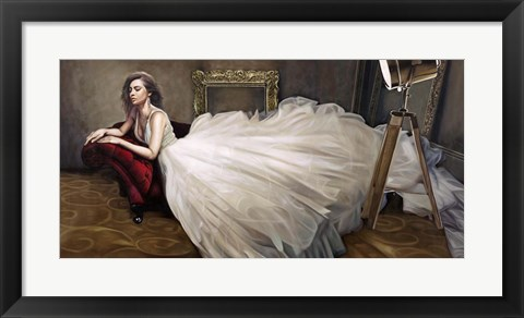 Framed White Dress Print