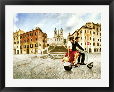 Framed Lovers in Rome Print