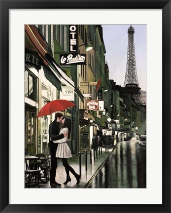 Framed Romance in Paris (Detail) Print