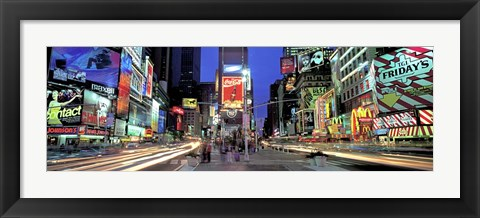 Framed Times Square facing North, NYC Print