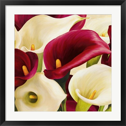 Framed Calla Composition (Detail) Print