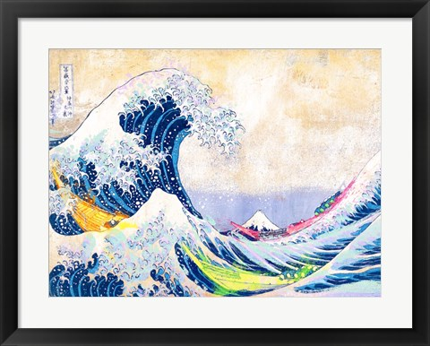 Framed Hokusai's Wave 2.0 Print