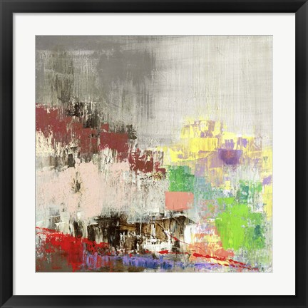 Framed Colored City Print