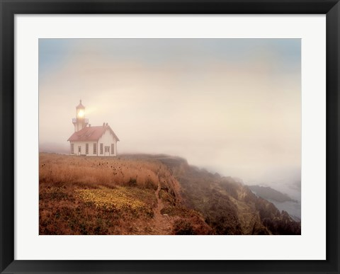 Framed Point Cabrillo Lighthouse Print