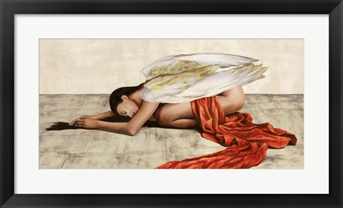 Framed Reclined Angel (Detail) Print
