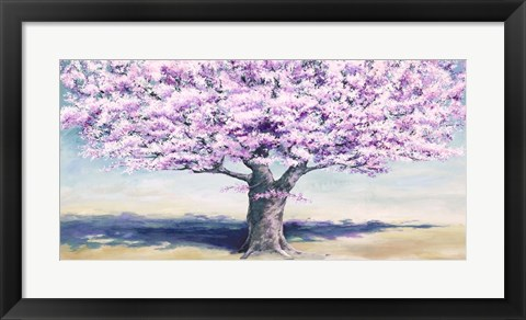 Framed Peach Tree Print