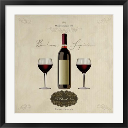 Framed Bordeaux Superieur Print