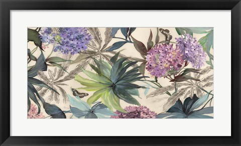 Framed Hydrangeas Panel Print