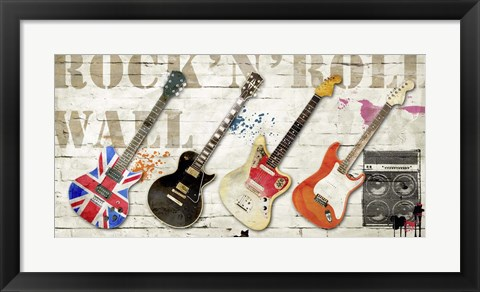 Framed Rock and Roll Wall Print