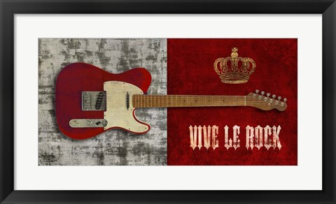 Framed Vive le Rock Print