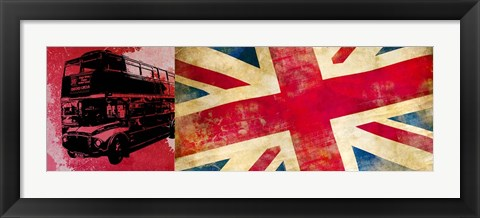Framed On the Road, London Print