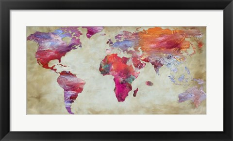 Framed World in Colors Print