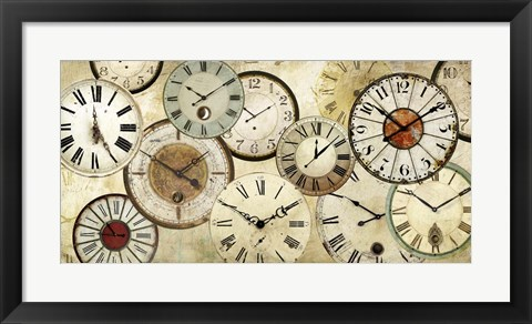 Framed Timepieces Print