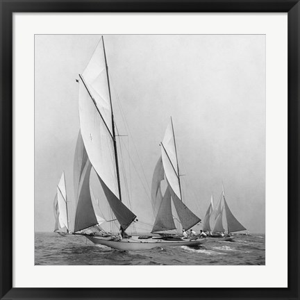 Framed Sailboats Sailing Downwind, 1920 (Detail) Print