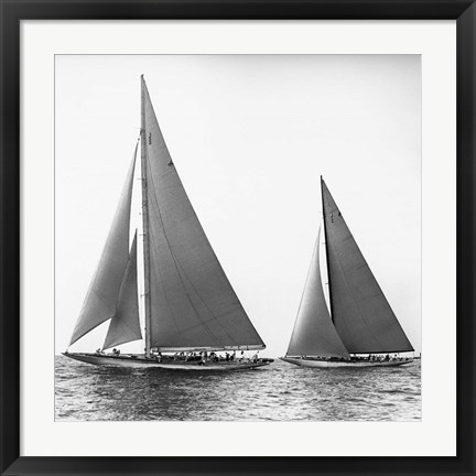 Framed Sailboats in the America's Cup, 1934 (Detail) Print