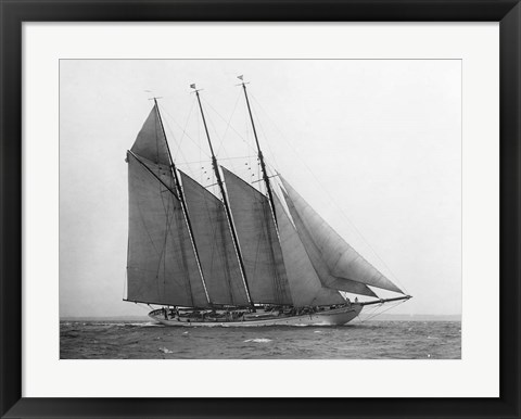 Framed Schooner Karina at Sail, 1919 Print