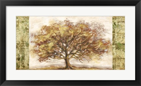 Framed Golden Tree Panel Print