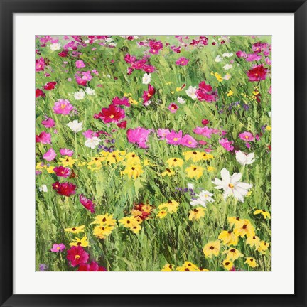 Framed Country Flowers Print