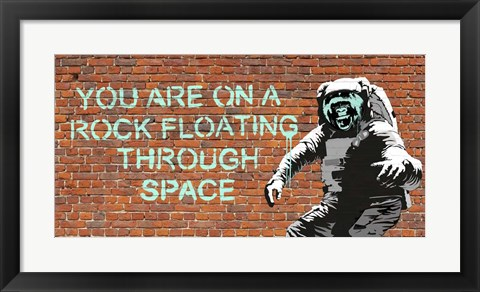 Framed Floating Through Space Print