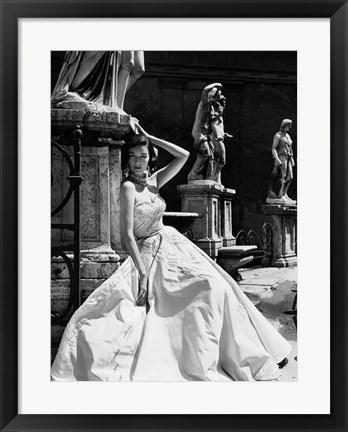 Framed Evening Gown, Colosseo, Roma 1952 (Detail) Print