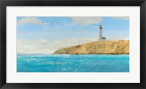Framed Lighthouse Seascape II Print
