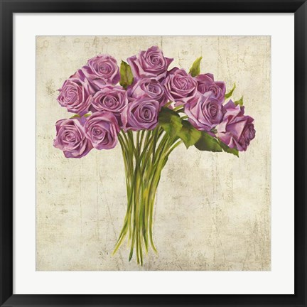 Framed Bouquet de Roses Print
