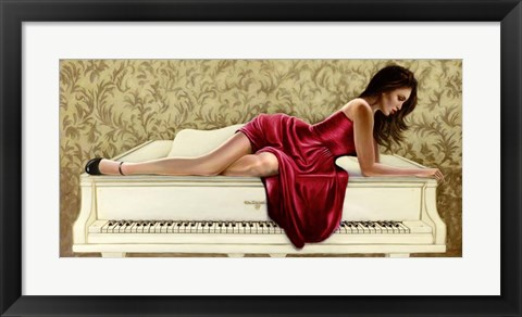 Framed Woman in Red Print