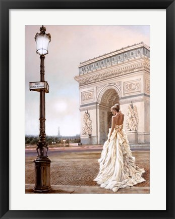 Framed Romance in Paris II Print