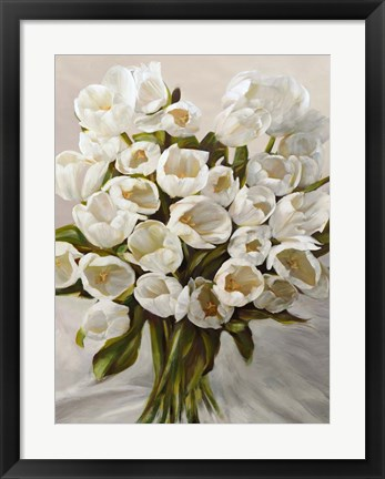 Framed Bouquet Blanc Print