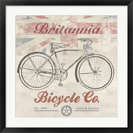 Framed UK Bikes Print