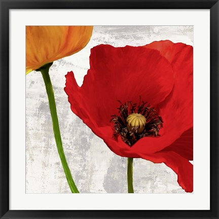 Framed Summer Poppies I Print