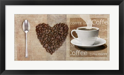 Framed I Love Coffee Print