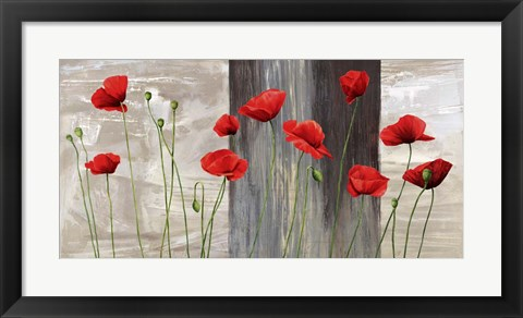 Framed Country Poppies Print